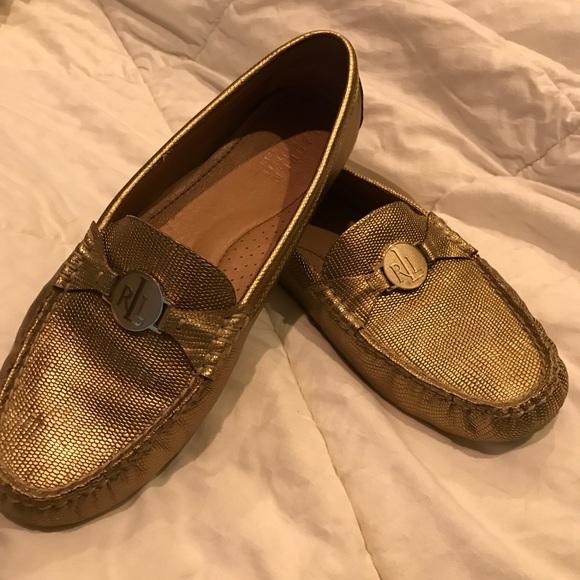 bc6768b7842 Lauren Ralph Lauren Shoes - Lauren Ralph Lauren loafer Women s gold size 9